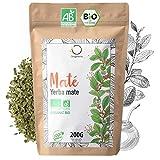 ☘️ BIO YERBA MATE 200g   Grüner Mate Tee, Blätter, Ungeröstet, ohne Stängel und nicht pulvrig   Energie und Detox Getränk