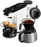 Philips Senseo HD6592/00 Switch 2-in-1 Kaffeemaschine, weiß