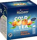 Meßmer Cold Tea Eistee Pfirsich   Für die Wasserflasche   ohne Zucker   ohne Kalorien   Alternative zu zuckerhaltigen Getränken wie Limonade oder Saft   14 Pyramidenbeutel