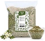 NaturaForte Weissdornblätter mit Blüten, geschnitten 1kg - Weißdorntee Lose, Arzneimittel-Qualität, 100% Natürlich & ohne Zusätze, Aroma-Beutel, Getrocknet, Laborgeprüft