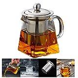 Teekanne Glas Teebereiter 350 ml PLUIESOLEIL mit Abnehmbare Edelstahl-Sieb (Platz 350ML)